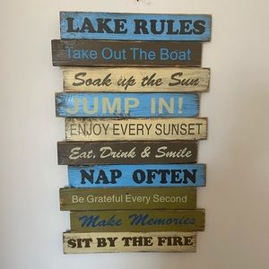 New Lake Cabin wood wall decor rustic gift
